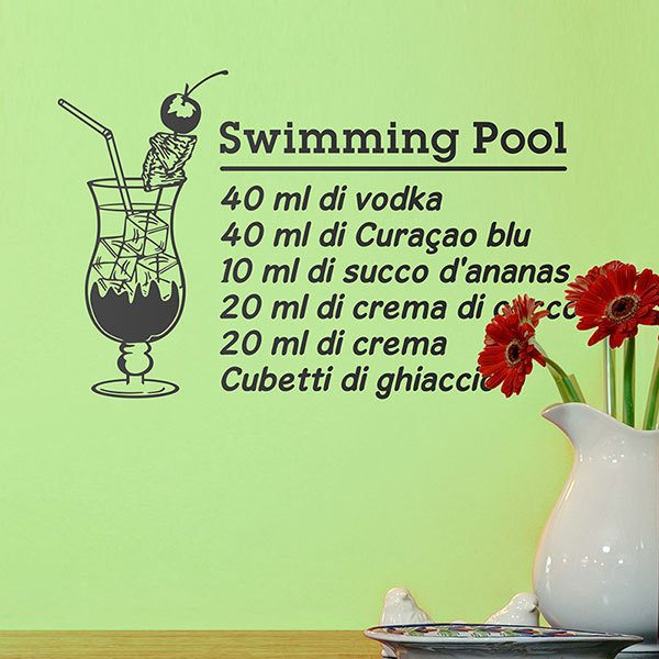 Stickers muraux: Cocktail Swimming Pool - italien