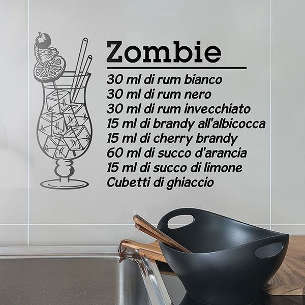 Stickers muraux: Cocktail Zombie - italien 0