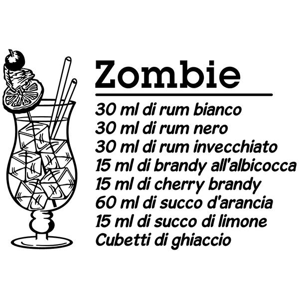 Stickers muraux: Cocktail Zombie - italien