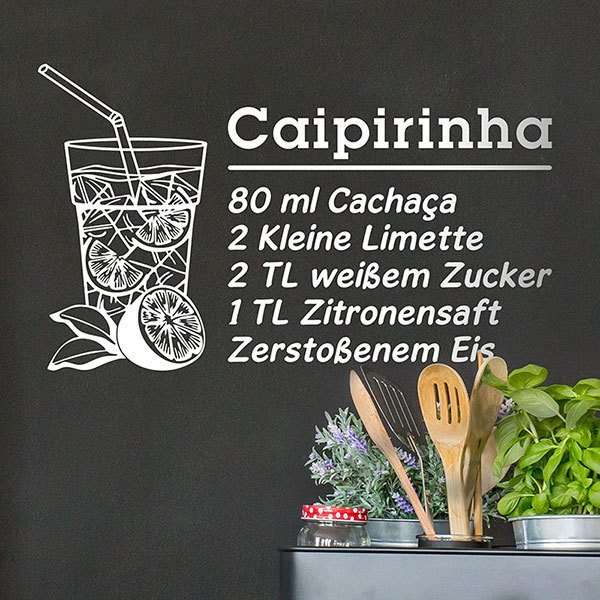 Stickers muraux: Cocktail Caipirinha - allemand