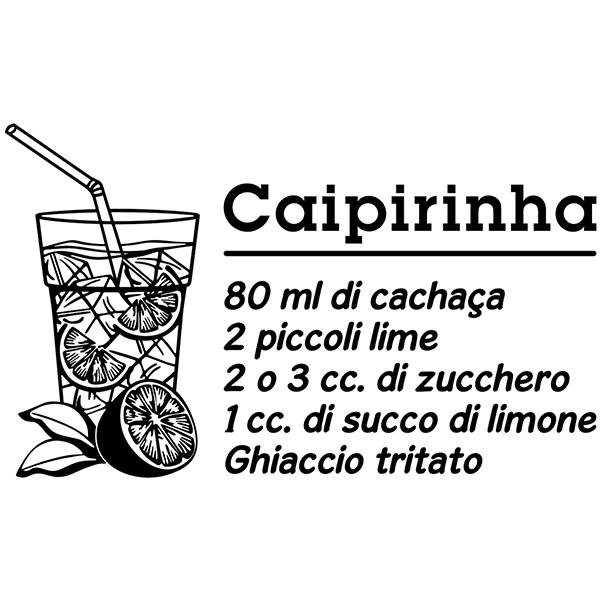 Stickers muraux: Cocktail Caipirinha - italien