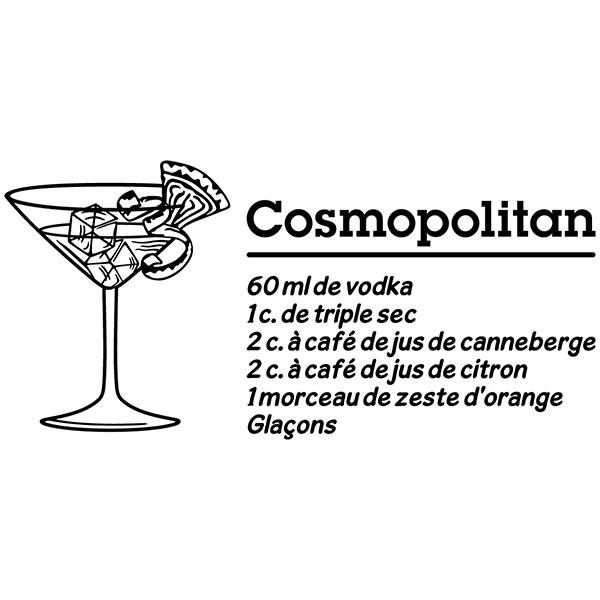 Stickers muraux: Cocktail Cosmopolitan - français