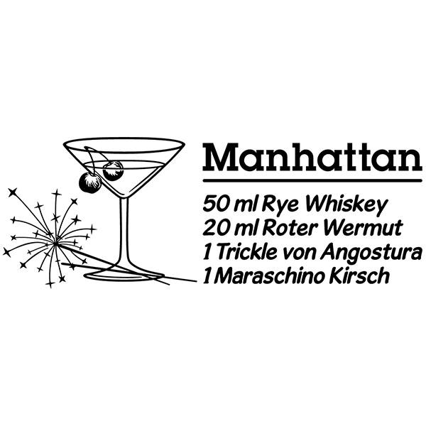 Stickers muraux: Cocktail Manhattan - allemand