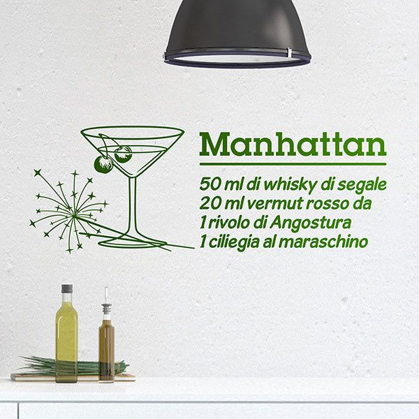 Stickers muraux: Cocktail Manhattan - italien