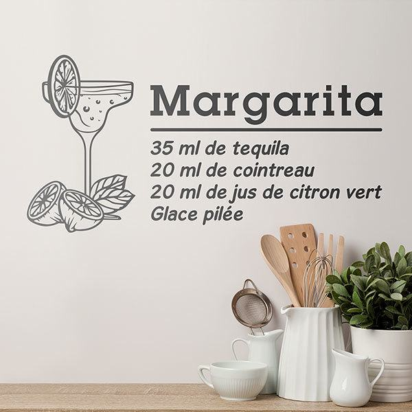 Stickers muraux: Cocktail Margarita - français