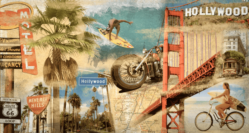 Poster xxl: Collage Californie