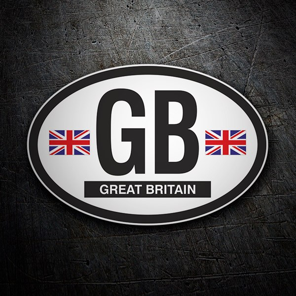 Autocollants: Ovale Great Britain (Grande-Bretagne) GB