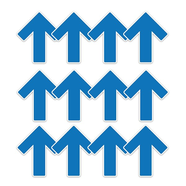Autocollants: Set 12X Flèches Soil Arrows Bleu