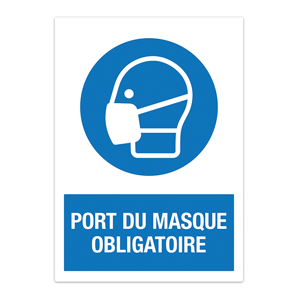 Autocollants: Protection Masque obligatoire en français