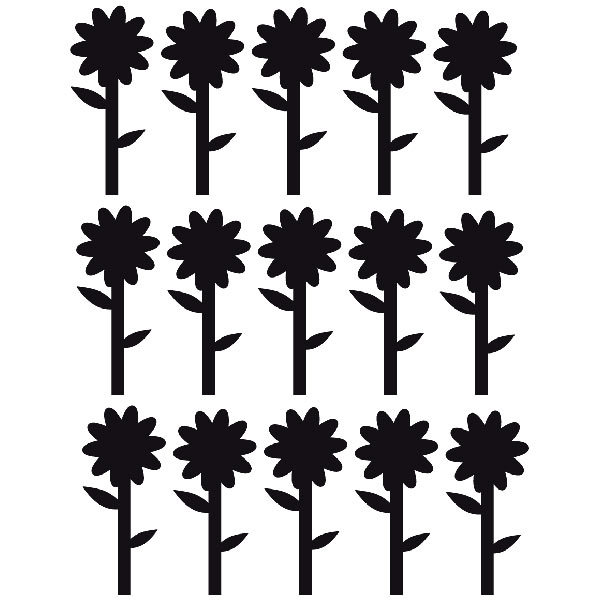 stickers muraux sunflowers. Black Bedroom Furniture Sets. Home Design Ideas