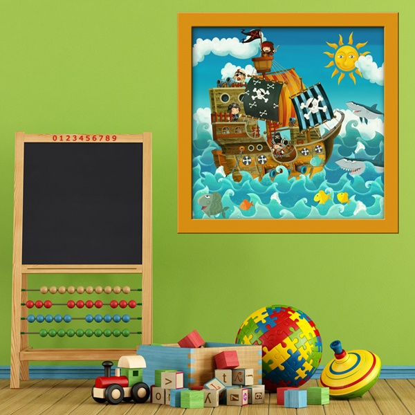 Stickers pour enfants: Pirate Ship