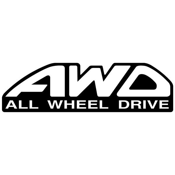 Autocollants: All wheel drive