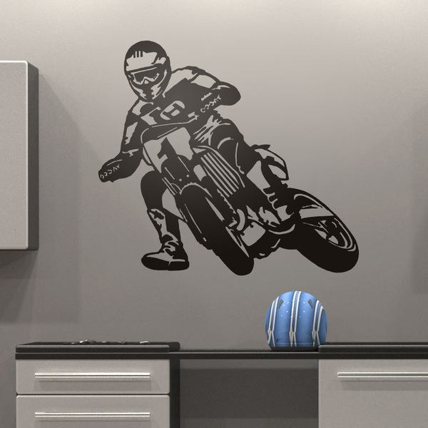 Stickers muraux: Moto Cross