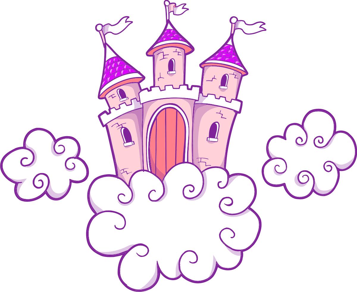 Un Chateau Dans Les Nuages sticker mural enfant château dans les nuages