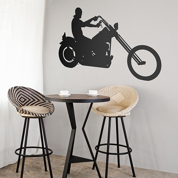 Stickers muraux: Moto Chopper