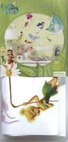 Stickers pour enfants: Stickers muraux Disney Fairies avec des paillettes 4
