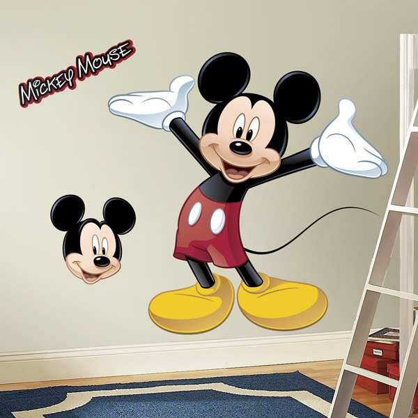 Stickers pour enfants: Mickey Mouse sticker mural