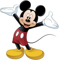 Stickers pour enfants: Mickey Mouse sticker mural 4