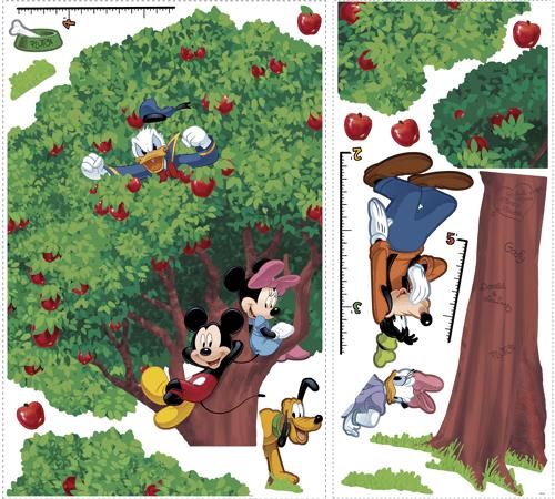 Stickers pour enfants: Sticker Toise Arbre Géant Mickey et ses amis