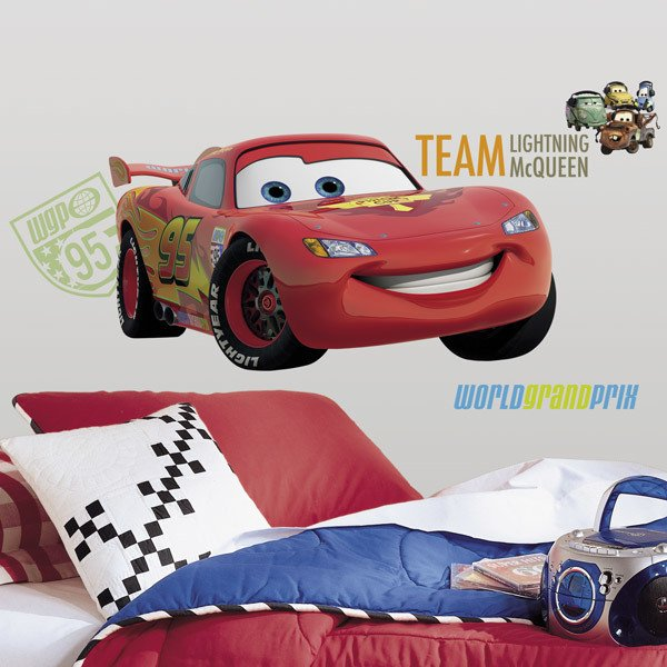 Stickers pour enfants: Géant Flash McQueen Sticker Mural