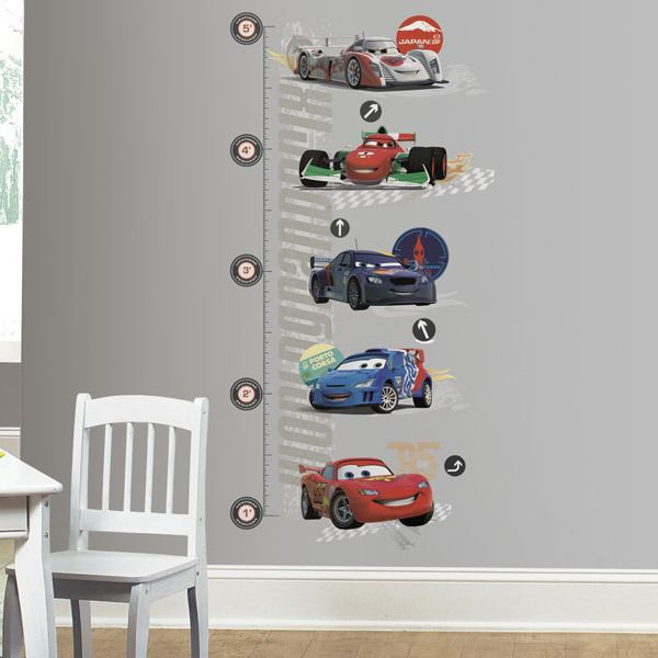 Stickers pour enfants: Sticker Toise Lightning McQueen Cars 2