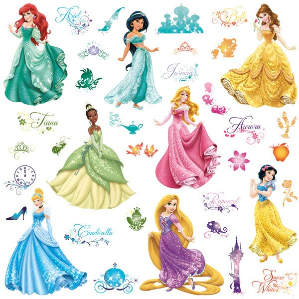 Stickers pour enfants: Stickers muraux Princesses Disney Royal Debut