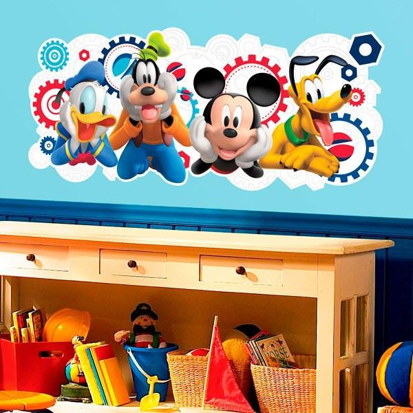 Sticker mural enfant la maison de mickey mouse et ses amis - Mickey mouse et ses amis ...