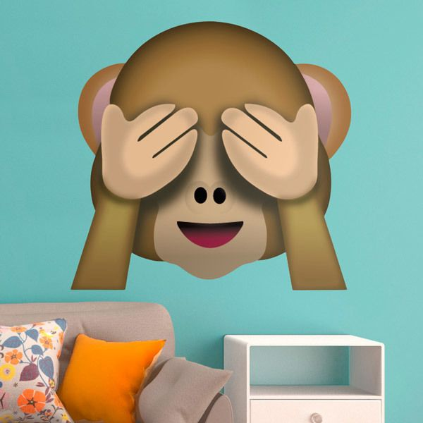 Stickers muraux: Singe couvrant ses yeux