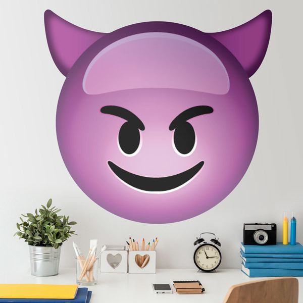 Stickers muraux: Smiling Face With Horns