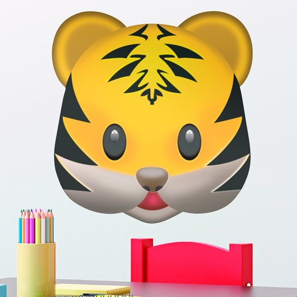 Stickers muraux: Tiger visage