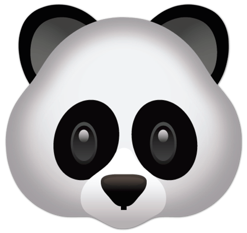 Stickers muraux: Face Panda