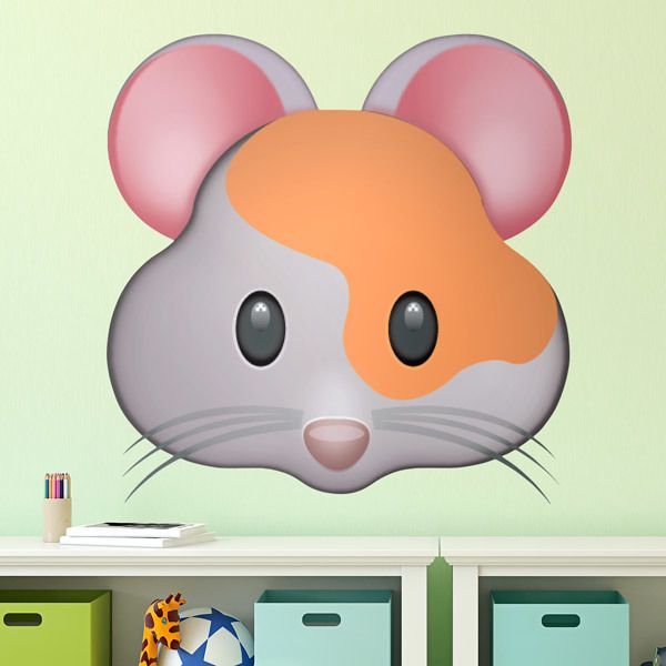 Stickers muraux: Face Hamster