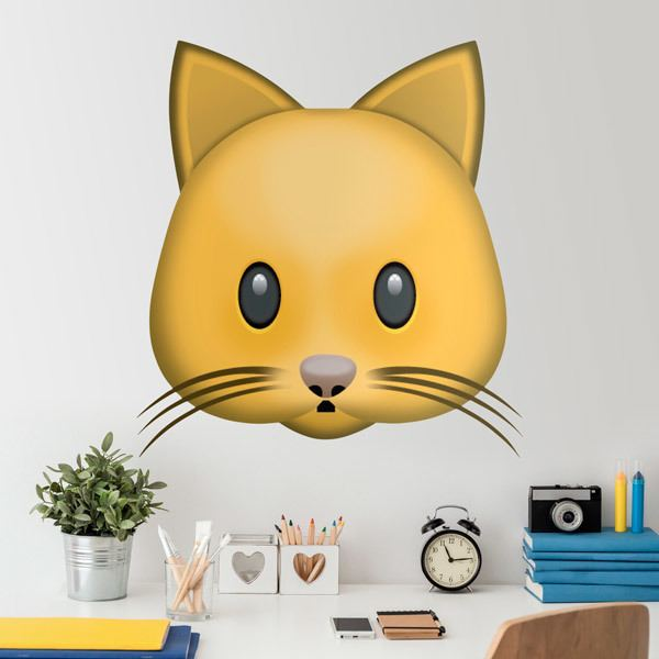 Stickers muraux: Visage de chat