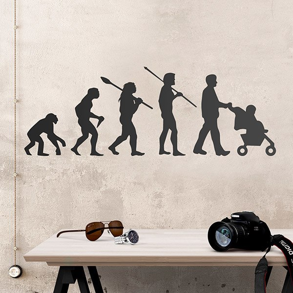 Stickers muraux: Evolution papa