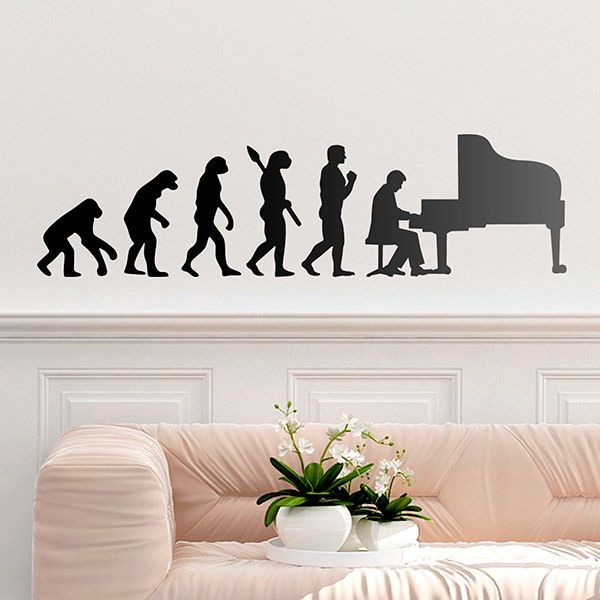 Stickers muraux: Évolution du piano à queue