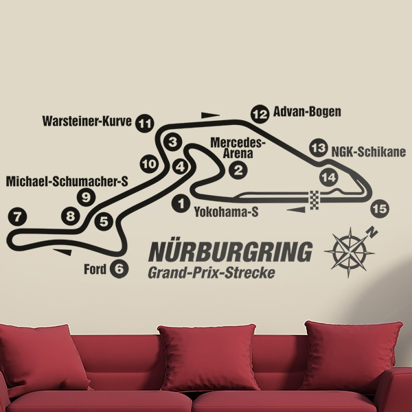 Stickers muraux: Circuit du Nurburgring