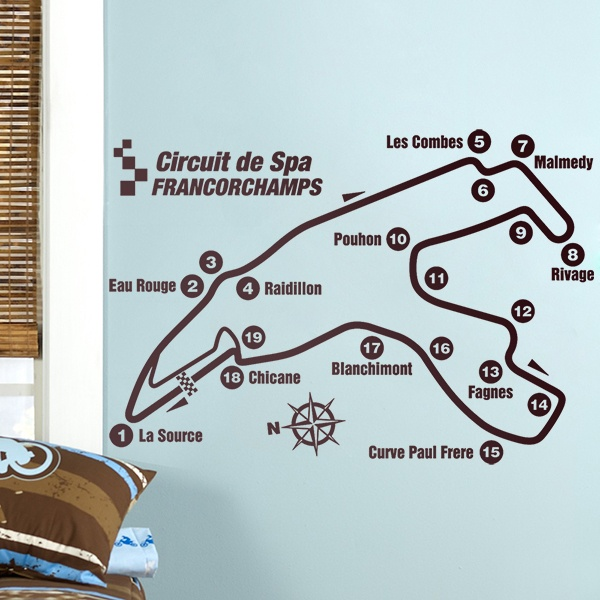 Stickers muraux: Circuit de Spa-Francorchamps