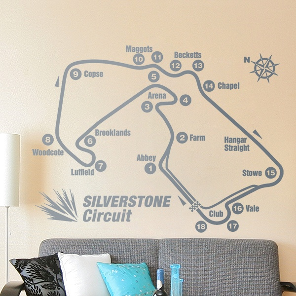 Stickers muraux: Circuits Silverstone