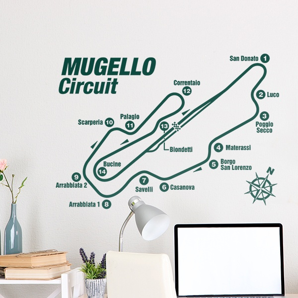 Stickers muraux: Circuit du Mugello