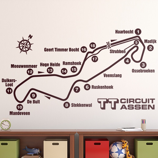 Stickers muraux: Circuit Assen