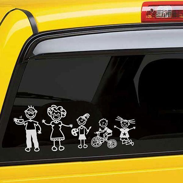De Voiture Autocollant Pour Enfant Famille Avec Jouet 4Acj35LqR