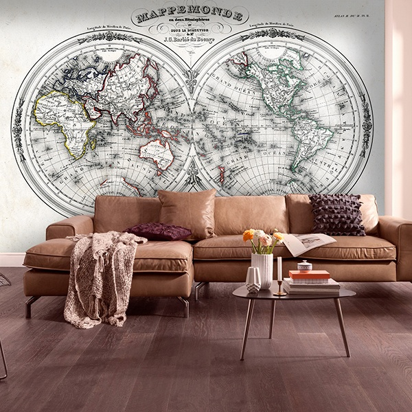 Papier peint vinyle: World Map 3