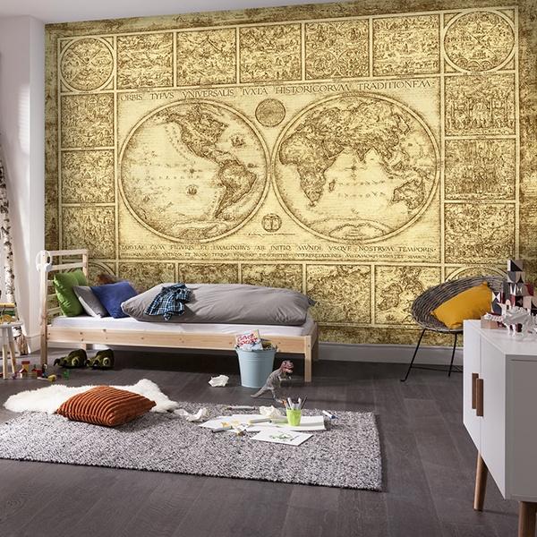 carte du monde ancien. Black Bedroom Furniture Sets. Home Design Ideas