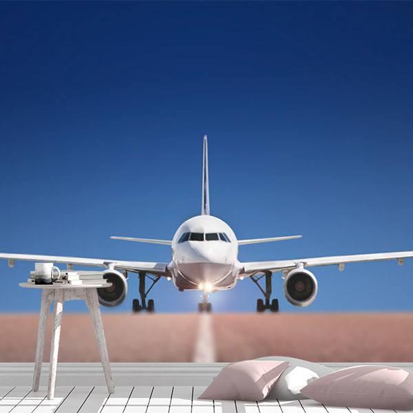poster xxl avion en piste. Black Bedroom Furniture Sets. Home Design Ideas