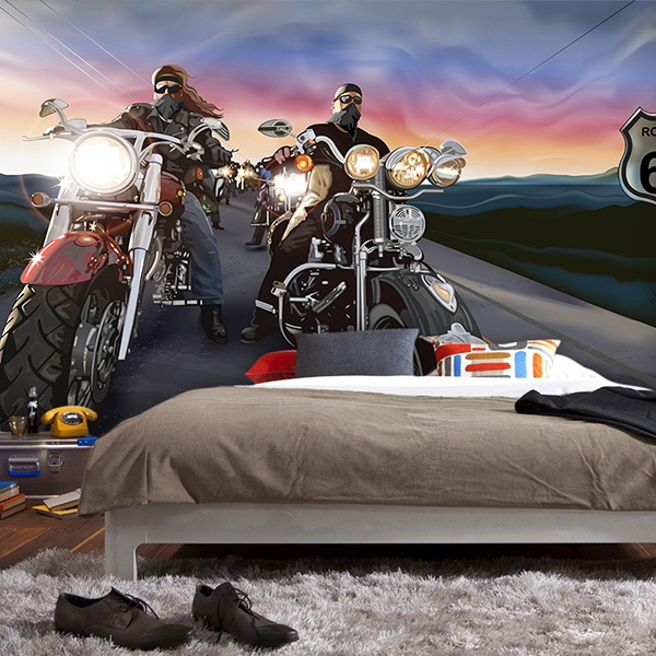 Poster xxl: Bikers Route 66