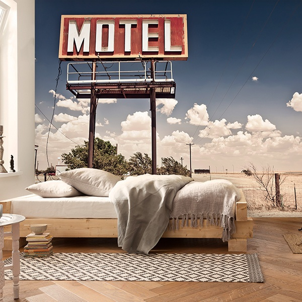 Papier peint vinyle: Motel on Route 66