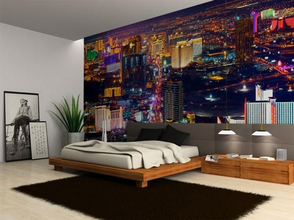 las vegas at night. Black Bedroom Furniture Sets. Home Design Ideas