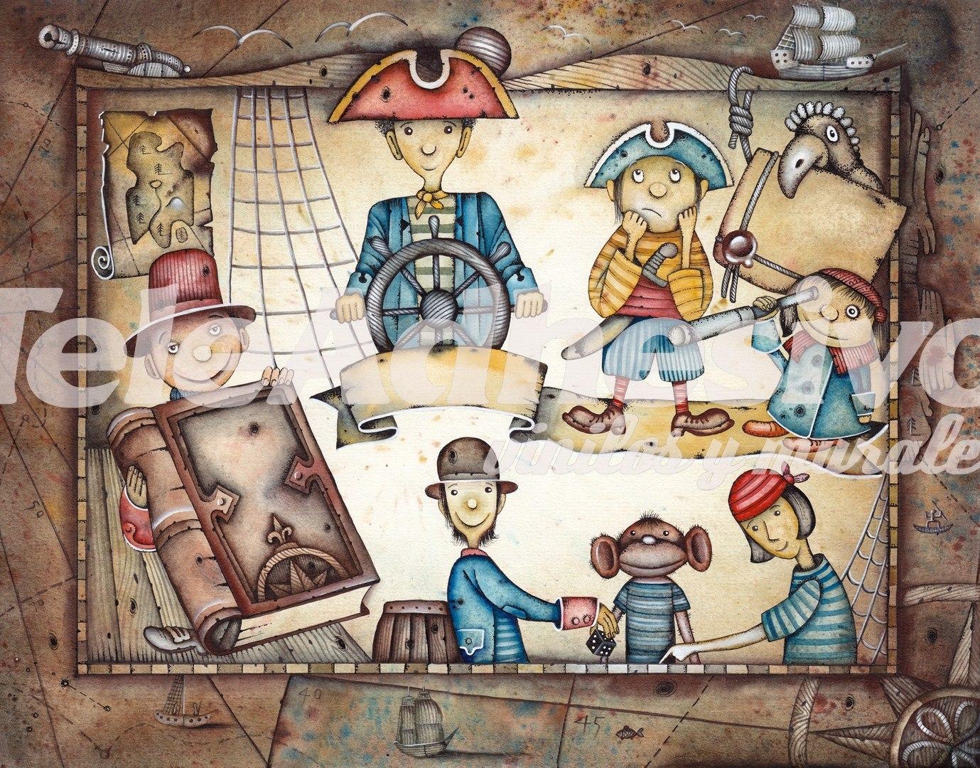 Deco Chambre Peinture Verte : pirates