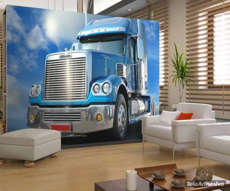 camion bleu. Black Bedroom Furniture Sets. Home Design Ideas