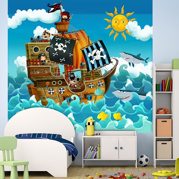 Papier peint vinyle: Pirates Kids